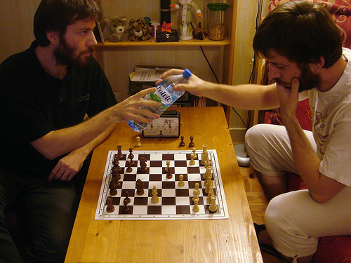 No matter how much you enjoy it, eventually you will have to find someone besides yourself to play chess with.