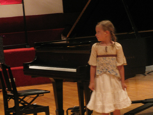 While the picture is of the recital itself, I always had trouble focusing the day before, anticipating a concert or performance.