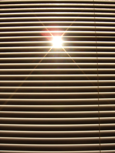 Even with shutters (or blinds), the sun will eventually get through.