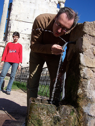This fountain was dug deep, as it still works 2000 years later. Perhaps the author of the quote drank from it's good water.