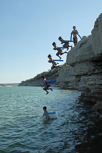 Before you head to Acapulco, Mexico to do some cliff diving, you might want to build your skills and esteem. Difficult is good, stupid is not.