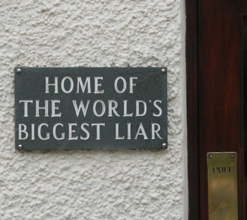 Is this the sign you want on your front door? Is this how you want to be known by all people?
