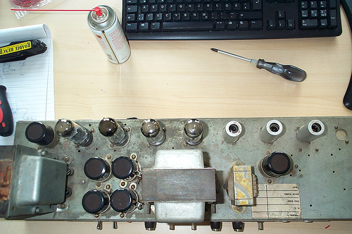 Someone has to fix the gear. Could you help? For the introverted geeks out there, this might be a way to help.