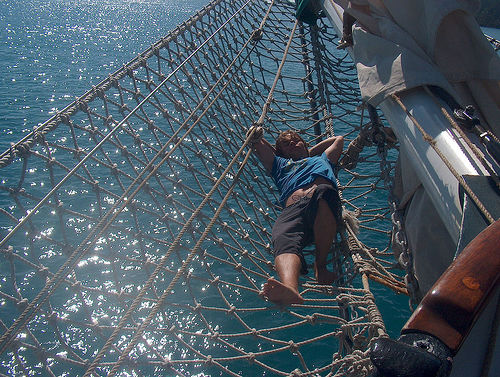 This might not be for everyone, but I love sailing. This is a big sailing ship, and that's even better. Almost heaven...