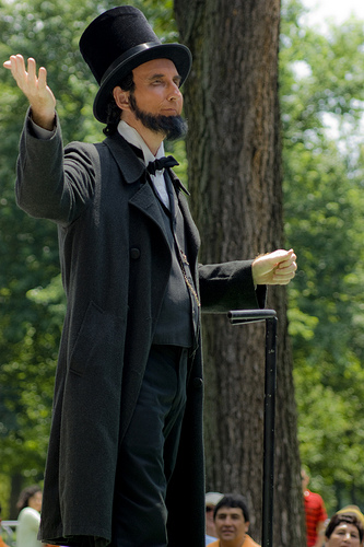 If you don't recognize this icon of American Politics, this is Honest Abe Lincoln.